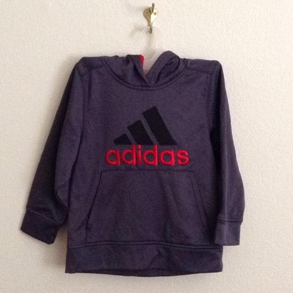 Adidas camisetas & Tops tamaño 6 gris oscuro y rojo con capucha poshmark